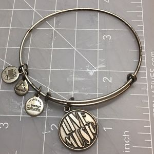 Alex and Ani Silver Live Music Charm Bracelet